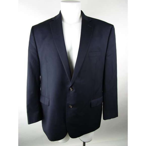 Lauren Ralph Lauren Solid Wool 2 Button Blazer